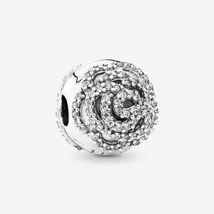 Pandora Shimmering Rose Clip